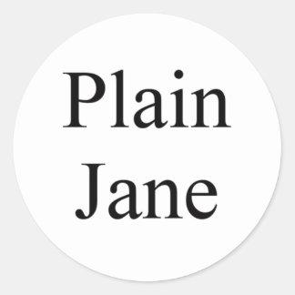 Plain Jane Classic Round Sticker