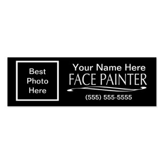 Plain Jane-Face Painter Double-Sided Mini Business Cards (Pack Of 20)