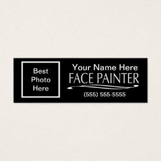 Plain Jane-Face Painter Mini Business Card