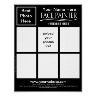 Plain Jane-Face Painters Chart Poster