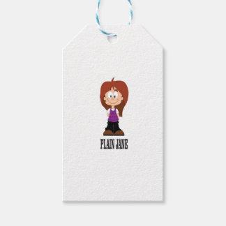 plain jane girl gift tags