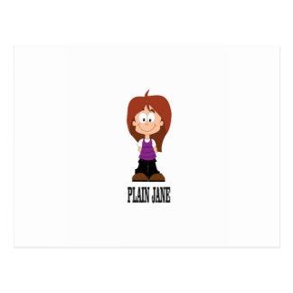 plain jane girl postcard