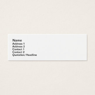 Plain Jane Mini Business Card