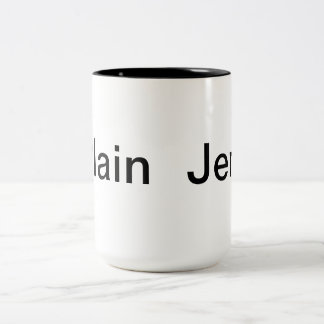Plain Jen B&W Mug