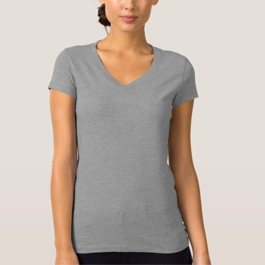 Plain light grey t-shirt for women, ladies