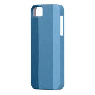 Plain Light Sky Blue and  Steel Blue Stripes iPhone SE/5/5s Case