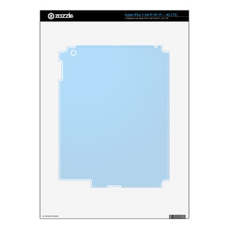 Plain Lightblue SkyBlue Shade: Add text or image iPad 3 Decal