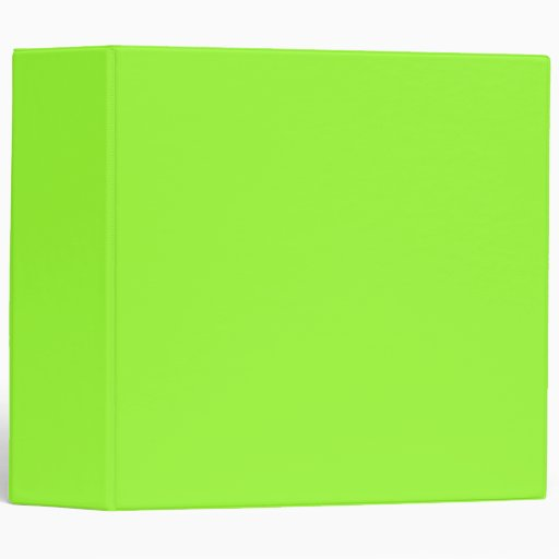 Plain Lime Green Background. 3 Ring Binders