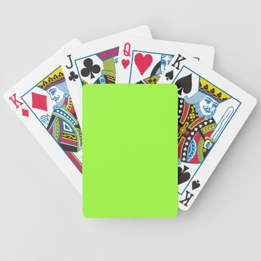 neon green aces cards images