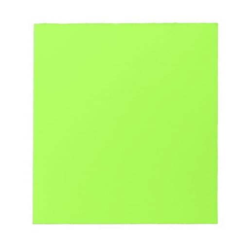 Plain Lime Green Background. Memo Notepads