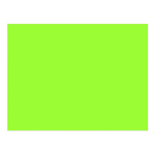 Plain Lime Green Background. Postcard