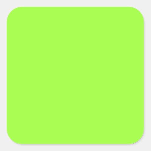 Plain lime green background square sticker zazzle - Plain green background ...