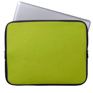 Plain Lime Green Laptop Sleeve