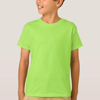 Plain Lime Kids' Hanes Tagless T-Shirt