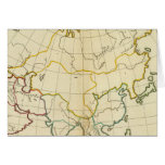Plain map Asia Greeting Cards