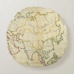 Plain map Asia Round Pillow