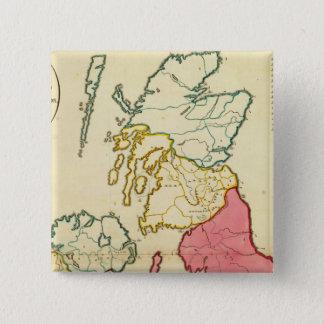Plain map British Islands Button