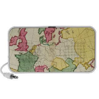 Plain map Europe Travel Speakers