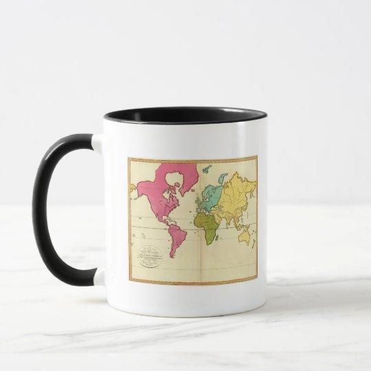 Plain map World Mug