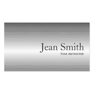 Plain Metal Yoga instructor Business Card