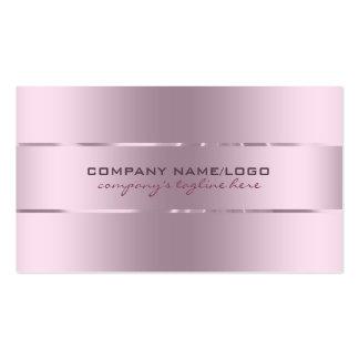 Plain Metallic Pink Tint Stainless Steel Look Business Card