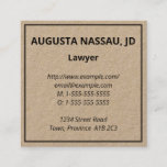 This minimal and basic business card design features a name, a job title, and contact details that can be personalized. Business cards like these might be used by a professional such as a barrister or a consultant.