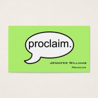 Plain Minister Preacher Modern Business Card