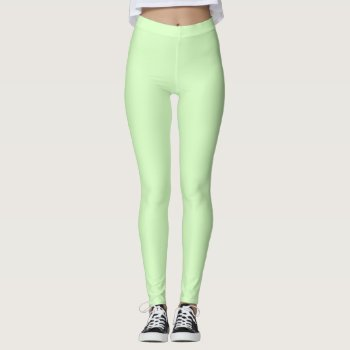 Plain Mint Green Leggings