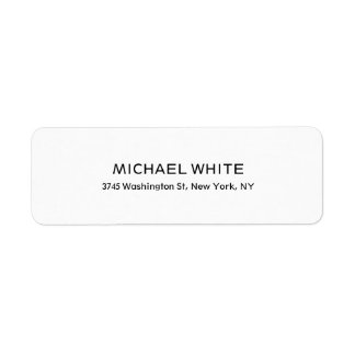 Plain Modern Black White Minimalist Legible Label