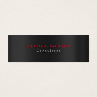 Plain Modern Gray Black Red Minimalist Original Mini Business Card