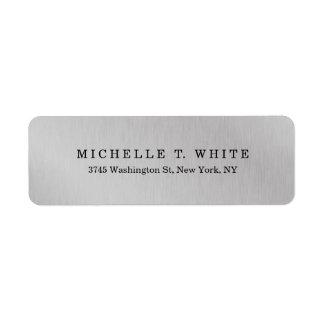 Plain Modern Minimalist Grey Creative Label