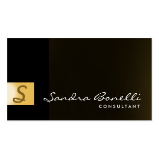 Plain Modern Professional Consultant Business Card