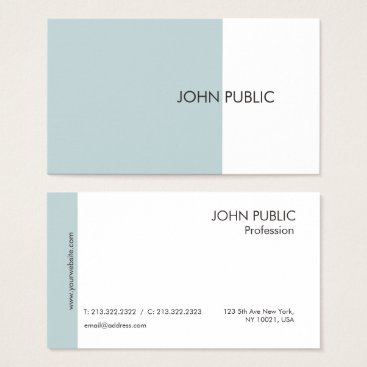 Lawyer Themed Plain Modern Professional Elegant Green and White Business Card