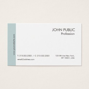 Lawyer Themed Plain Modern Professional Elegant Green White Chic Business Card