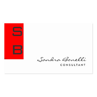 Plain Modern Professional Monogram Business Card