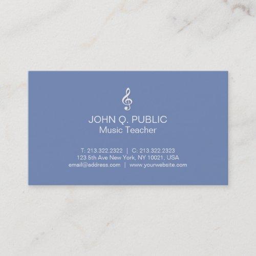 Plain Modern Professional Music Teacher Business Card