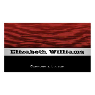 Plain Modern Professional Red Business Cards