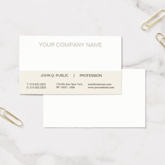 Plain Modern Professional Trendy Harmonic Colors Business Card