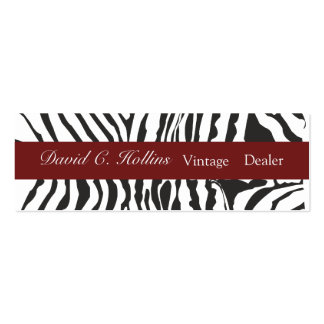 Plain Modern Zebra Double-Sided Mini Business Cards (Pack Of 20)