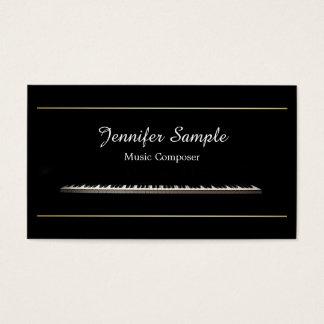 Plain Music Composer Teacher Professional Elegant Business Card