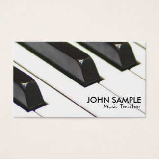 Plain Music Teacher Professional Simple Business Card