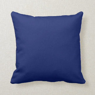 Plain Navy blue background Throw Pillows
