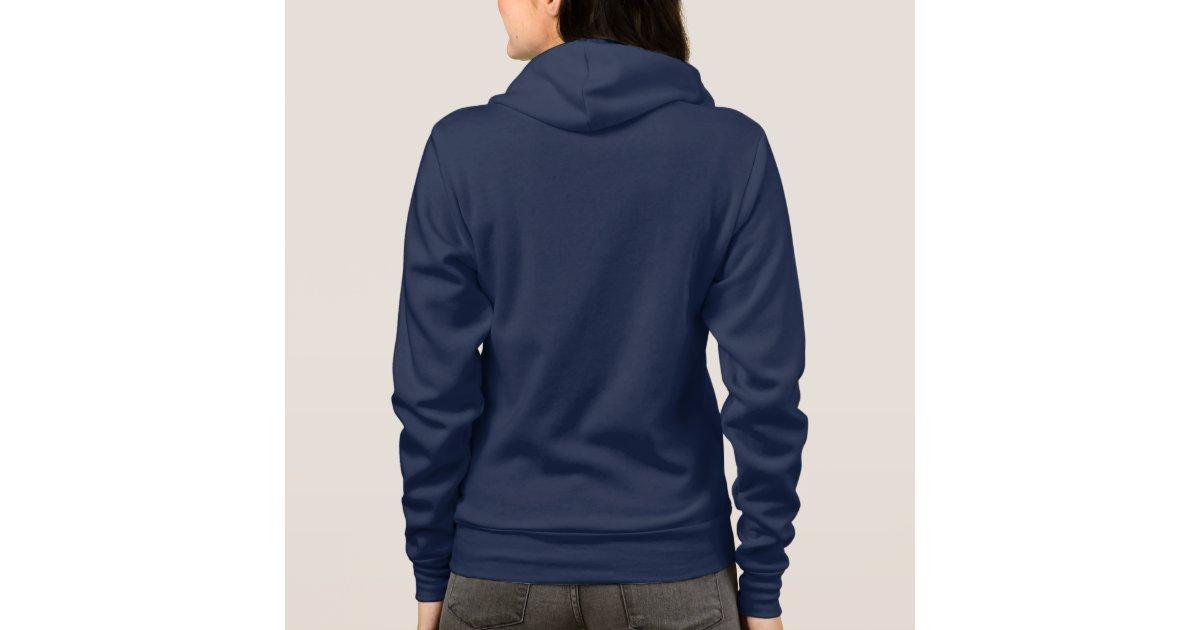 Plain navy blue hoodie fleece for women, ladies | Zazzle