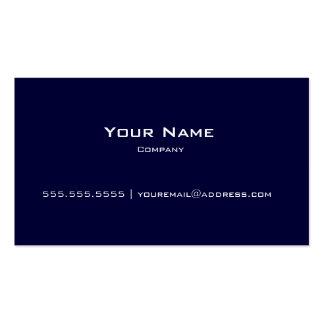 Plain Navy Blue & White Modern Business Card