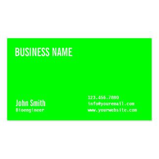 Plain Neon Green Bioengineer Business Card