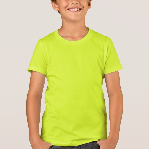 Plain Neon Yellow Kids' American Apparel T-shirt | Zazzle