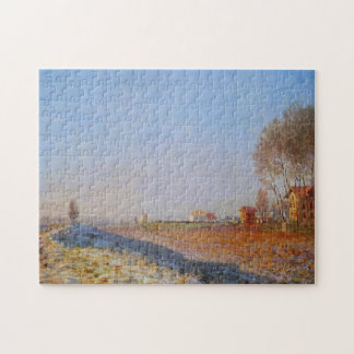 Plain of Colombes, White Frost Monet Fine Art Jigsaw Puzzle