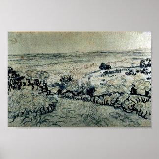 Plain of La Crau, Vincent van Gogh Poster