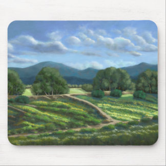 Plain of Winded Wildflowers Mouse Pad