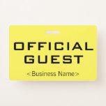 """[ Thumbnail: Plain """"Official Guest"""" Badge ]"""